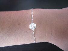 Bracelet Argent orné d'une boule strass SWAROVSKI