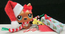 Littlest Pet Shop #1847 Tan Brown French Bulldog Christmas Present Really Opens!