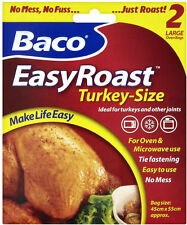Turkey Roasting Bags 45cm x 55cm Large Baco Oven Chicken Poultry Meat Roast Bag