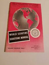 VINTAGE BOY SCOUTS INTERNATIONAL BUREAU WORLD SCOUTING BOOKLET DECEMBER 1958
