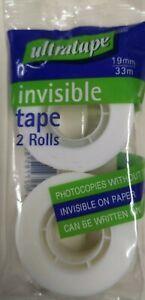 Invisible Tape, 2 Rolls, 19mm x 33m - ULTRATAPE