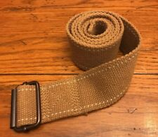 """Mens Size 31 Tan Canvas Belt with Metal Buckle 2""""W x 44""""L"""