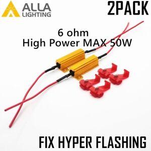 Alla Lighting 50W 6ohm Load Resistor Fix LED Turn Signal Hyper Flash Error Code