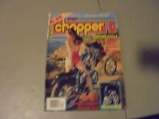 APRIL 1982 STREET CHOPPER MAGAZINE,NESS 82,CUSTOM CYCLES,GB SEX MACHINE IN EUROP