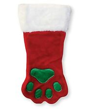 NEW Outward Hound Christmas Paw Dog Cat Hanging Stocking Holiday Red Small 13x6