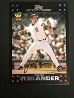 2007 Topps # 160 JUSTIN VERLANDER All Star Rookie RC Gold Cup 3rd NO HITTER $$$