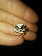 Ronald McDonald's house crew lapel hat pin with red ❤ heart bright colors