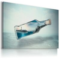 OCEAN IN BOTTLE   DRINK  View Canvas Wall Art Picture Large SIZES  DR91   X