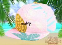 NEW Hurley Seaward Tropical Print Mens Snapback Cap Hat
