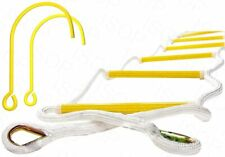 Safety Rope Ladder 4m (13ft) with Hooks - Fire Emergency Escape Ladder 2 Story
