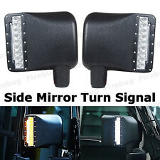 2 X LED Car Rear view Side Mirror Turn Signal Light For Jeep Wrangler JK 07-15