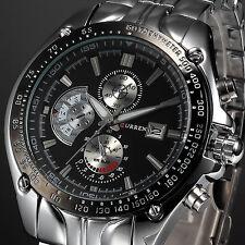 CURREN Fashion Men Military Sport Wrist Watch Stainless Steel Date Analog Quartz