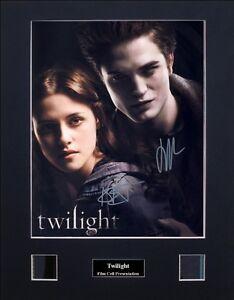 Twilight Saga - Twilight Signed by 2 Version 2 Photo Film Cell Presentation