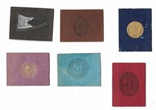 Lot 18 Tobacco Leather Colleges, State Seals, Pennants