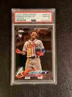 2018 Topps Chrome Update Ronald Acuna Jr. #HMT25 Rookie RC PSA 10 Gem Mint