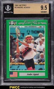 1991 Netpro Tennis Andre Agassi #3 BGS 9.5 GEM MINT