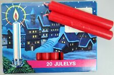 Swedish Angel Chimes Candles Lot 20 Large Red Juleys Christmas West Germany