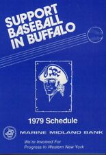 Baseball In Buffalo 1979 Marine Midland Schedule 101817jh