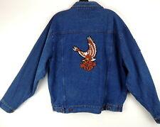 Rustler Mens M Harley-Davidson Eagle POW MIA Jean Jacket You Are Not Forgotten