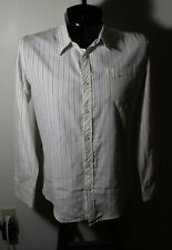 Men's HORNY TOAD White Striped Long Sleeve Shirt Size L