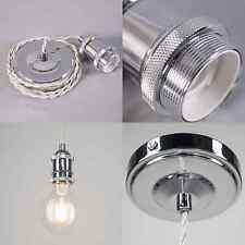 Vintage Edison Cable Pendant Light - E27/ES - 1.5M - Chrome Finish