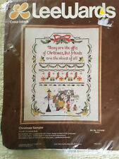 """Lee Wards Cross Stich Kit Christmas Sampler NEW STAMPED CROSS STITCH 14"""" X 18"""""""
