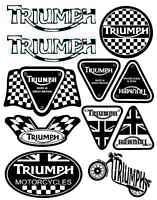 Set 11 Stickers Vinyl Triumph GP Car Auto Motorcycle Window Laptop Decals D 5