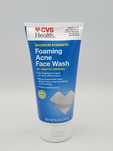 CVS FOAMING ACNE FACE WASH MAX STRENGTH ~COMPARE TO PANOXYL ~ 6.6OZ EXP 07-2022