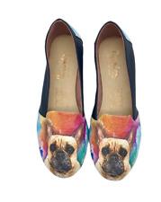 French Bulldog Tan Vegan Leather Slip ons Shoes, pet lovers, women shoes