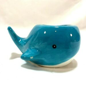 Blue Whale Ceramic Animal Planter Succulent Air Plant Desk Bedroom