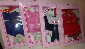 """Lissi Baby Doll Clothes Outfits NEW IN BOX 4 SETS Fits 15"""" - 18"""" ~Anneliese Batz"""