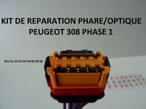 KIT DE RÉPARATION CONNECTEUR FAISCEAU PHARE / OPTIQUE PEUGEOT 308 SW PH 1 NEUF