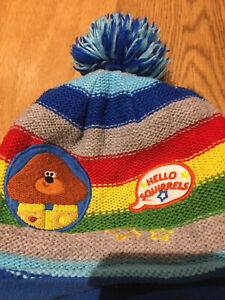 Stripey Hey Duggee Bobble Hat 3-5yrs (52cm)