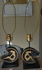 Vtg Pair 1950s 50s Mcm Biomorphic Atomic Stylized Woman Lamps Faip