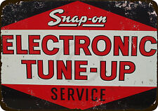 Snap-On Electronic Tune-Up Service Vintage Reproduction Metal Sign 8 x 12