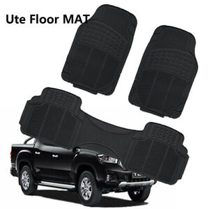 For LDV T60 SK8C Ute 17-20 H/duty Rubber Auto Floor Mats Water Stain Resistant