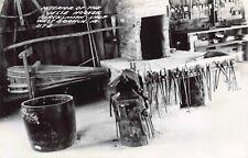 RP Postcard Interior of the Jesse Hoover Blacksmith Shop West Branch Iowa~124297