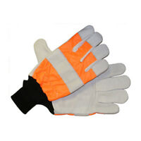CHAINSAW Orange Protective Gloves  Professional Quality ARBOR SAFE- 1001