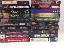 Lot Of 20 VHS Sci Fi / Action / Horror Movies Bruce Willis Chuck Norris Snipes