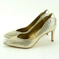 26275d49e673 Sam Edelman Orella Heels Size 5.5 Gold Metallic Glitter Pointed Toe Evening  Pump