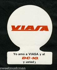 DC-10 VIASA STICKER - YO AMO A VIASA Y AL DC-10, Y USTED?  AIRLINE LABEL