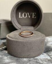 Vera Wang Love Rose Gold 18ct 0.23ct Diamond Wedding Band/Ring Size K-RRP £999