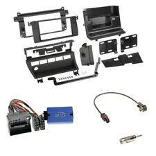 BMW 3er (E46 2001-2007) 2-DIN Radioblende (5 Schalter) black + LFB Panasonic Set