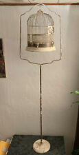 Vintage Bird Cage Art Deco With Stand And Frame Cast Iron Hendrix?