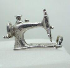Vintage Plata Antigua encanto de máquina de coser