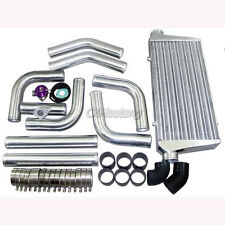 "CXRacing Universal DIY Intercooler + 3"" Aluminum Piping kit + BOV Black Hoses"