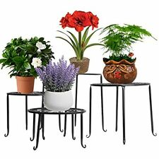 Aishn Metal 4 In 1 Potted Plant Stand Floor Flower Pot Rack/Round Iron Plant