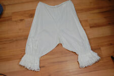 Vintage 30s 40s White Sheer Cotton Eyelet Lace Ruffle Bloomers Under Garment S M