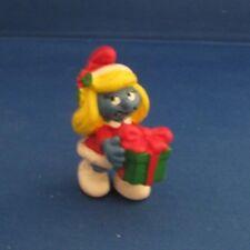 Smurfs 20208 Christmas Smurfette Vintage Schleich Figure Pvc 1982 Gift Present