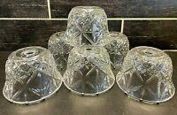 6 Vtg Heavy Glass Sconce Shades Diamond Light Lamp Ceiling Fan Chandelier Wall